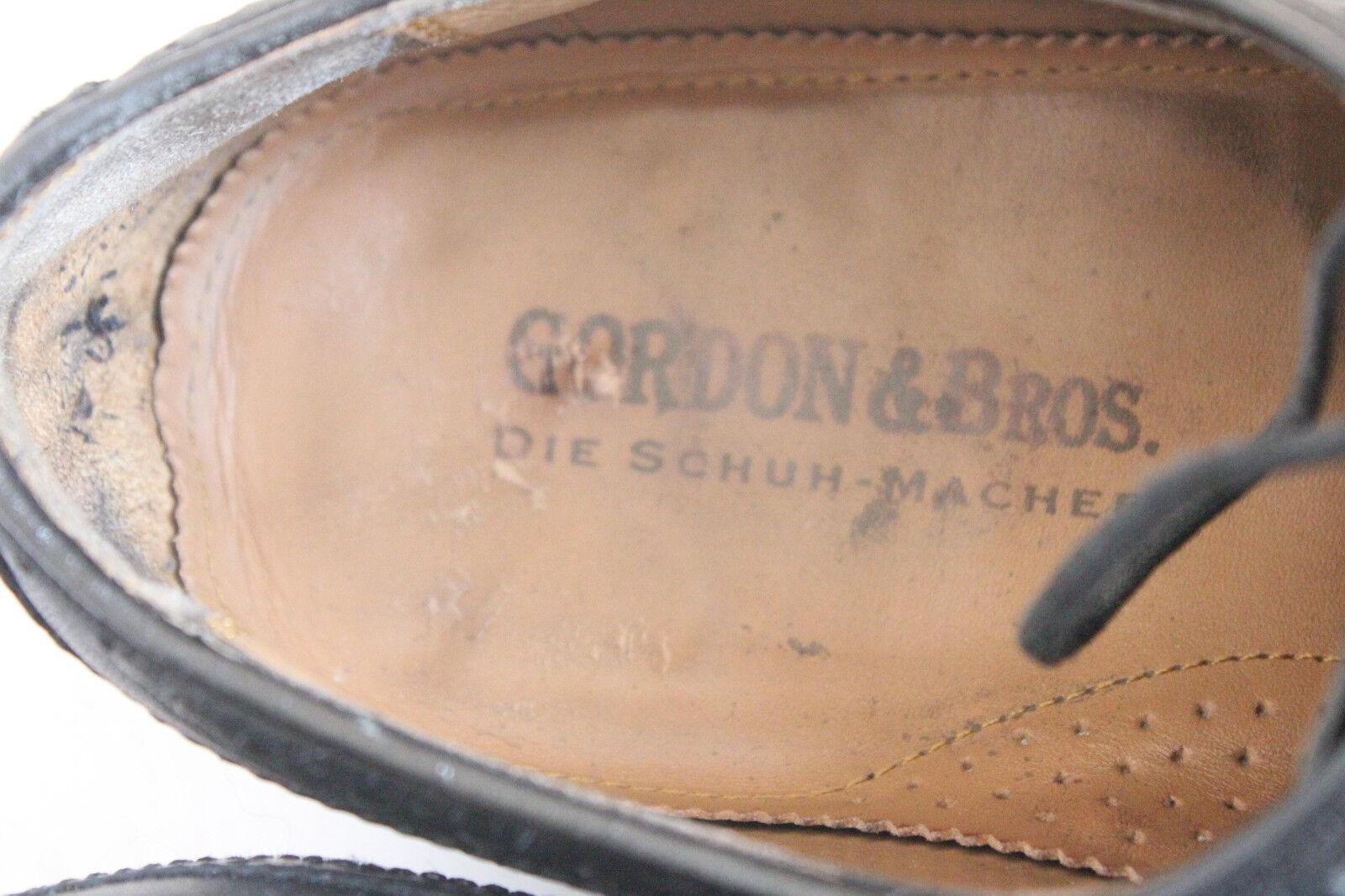 Gordon&Bross Elegante Budapesterschuhe Budapesterschuhe Budapesterschuhe voll Echtleder Schwarz Eu:45,5 5fae1c