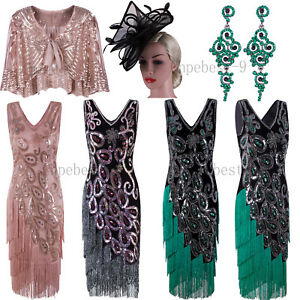 f0ef3c5034158 Image is loading 1920s-Flapper-Dress-Vintage-Peacock-Style-50s-Dresses-