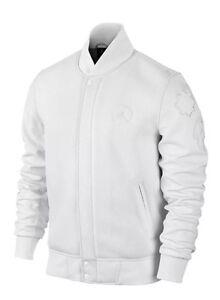 Nike Air Jordan 20 XX Leather Varsity Jacket Triple White Westbrook ... e7b989cd1