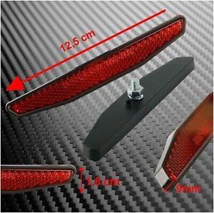 Reflektor Motorrad Quad E-geprüft klein mit Gewinde M5 125 x 18 mm Rückstrahler