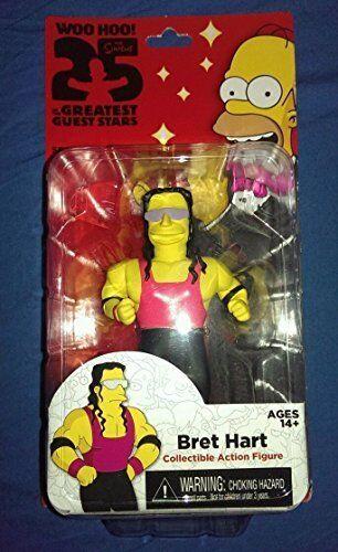 NECA Simpsons 25th Anniversary Series 3 - Bret Hart - 5  Figure