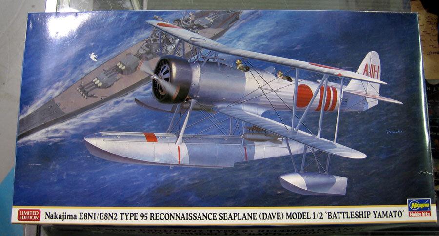 Hasegawa 1 48 Nakajima E8N1 E8N2 Type 95 Seaplane DAVE Battleship Yamato 7453