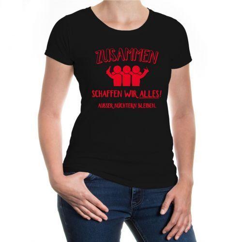 Señora manga corta villana t-shirt juntos creamos todo jugando juegos de video fiesta jga discoteca
