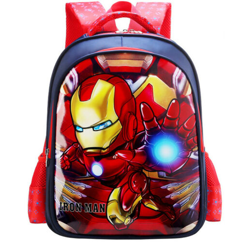 Children Boy Kids 3D Cartoon School Bag Marvel Shoulder Backpack America Captain
