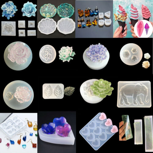 Silicone Resin Mold for DIY Pendant Ornament Epoxy Casting Tool Mould Craft xk
