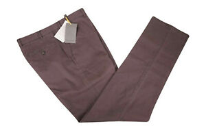 Canali-NWT-Flat-Front-Casual-Pants-Size-34-in-Merlot