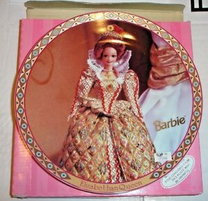 Barbie-as-Elizabethan-Queen-Collector-Plate-174815-with-Box-4708-out-of-7500