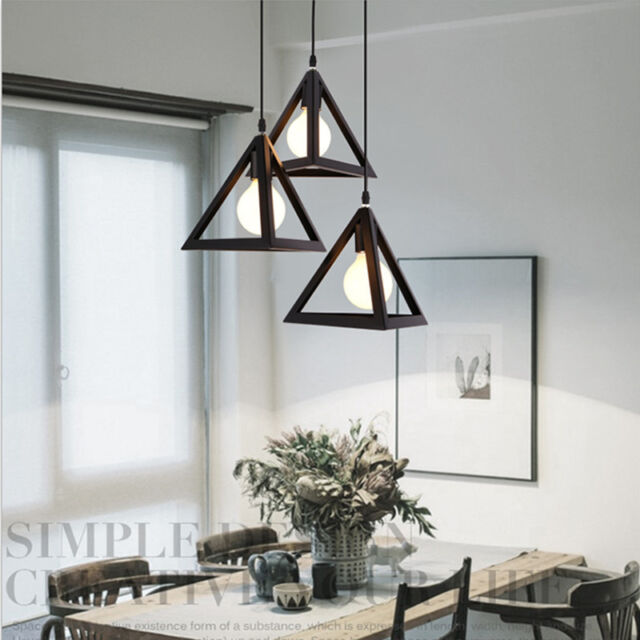 Black Chandelier Lighting Kitchen LED Ceiling Lights Bar