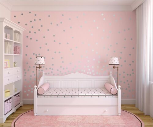 "Confetti Decal 2/"" Inch Vinyl Polka Dots Wall Sticker Polka Dots Wall Decor"