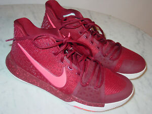 180ff1f74819 2016 Nike Kyrie 3 Team Red Hot Punch White Basketball Shoes Size 10 ...