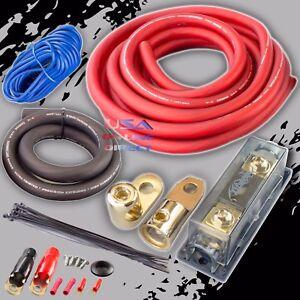 0 gauge awg 100 ofc copper power amp kit amplifier wiring install rh ebay co uk Memphis Amps 4000 Watt Amp 4000 Watt Lanzar Amp