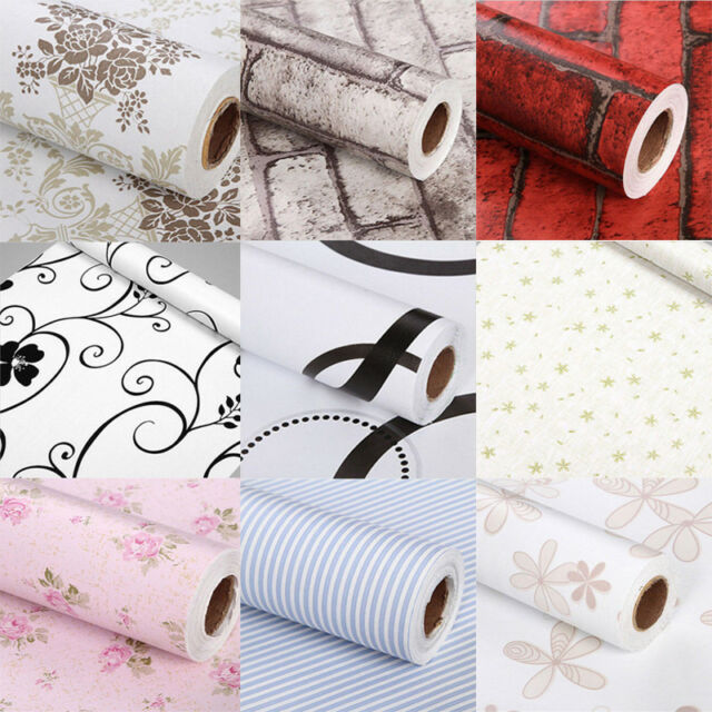 Removable Wall Stickers Decal Self Adhesive Paper Home Decor Wallpaper Roll