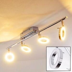 Deckenleuchte LED Design Flur Strahler Chrom  Küchen Leuchten Wohn Zimmer Lampen