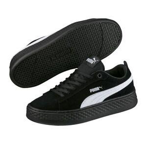 Details zu Puma Sneaker Damen Smash Plattform SD Damen Sneaker Schuhe  Schwarz Leder