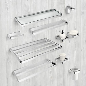 Image Is Loading BATHROOM ACCESSORIES TOWEL RAIL RACK SHELF SHELVES TOILET
