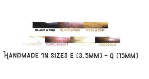 :Alpha Series Wood Crochet Hook: 8.00 mm Bloodwood M Furls