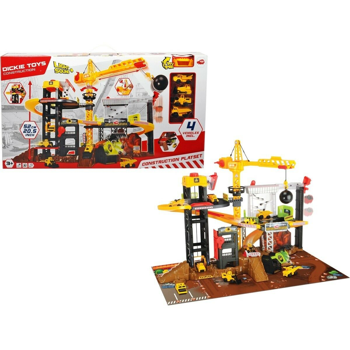 NEW NEW Dickie Toys Construction Light n Sound Playset 52cm Christmas Birthday Gift