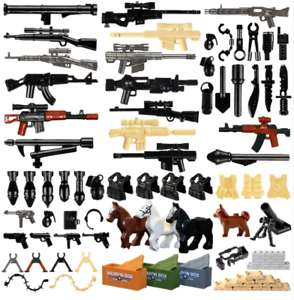 Military-Swat-Guns-Weapon-Pack-Building-Blocks-City-Team-Police-Soldiers-Figure