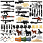 Military-Swat-Guns-Weapon-Pack-Building-Blocks-City-Team-Police-Soldiers-Figure thumbnail 1