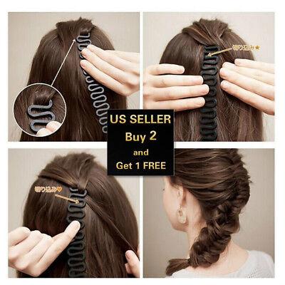 Hair French Braid Clip Magic Styling Stick DIY Bun Maker Tool