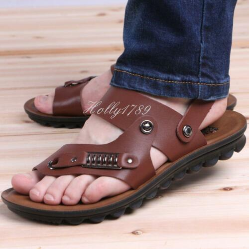 New Mens gladiator slip on loafer fisherman sandals slippers casual Beach