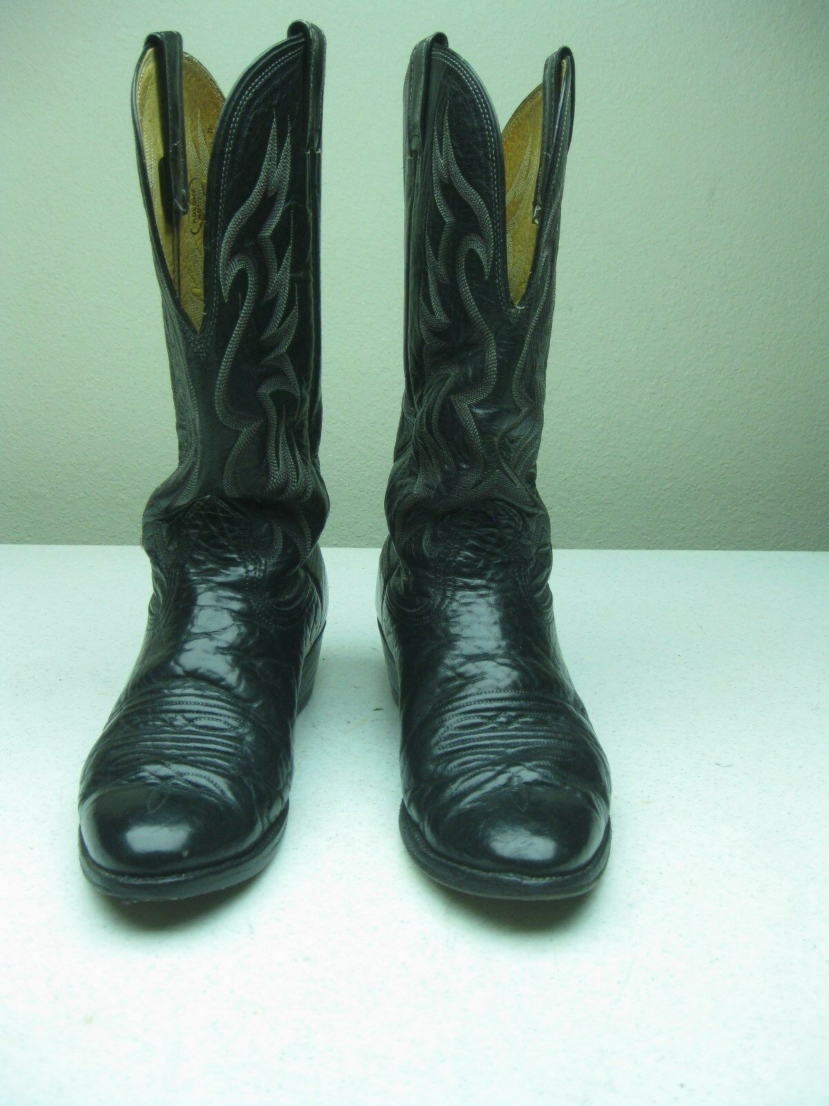 MADE IN USA DISTRESSED NOCONA schwarz LEATHER COWBOY Stiefel Größe 8.5 D