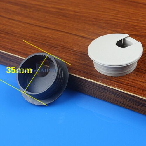 10pcs Computer Desk Table Grommet Cable Tidy Wire Hole Port Surface Cover 35mm