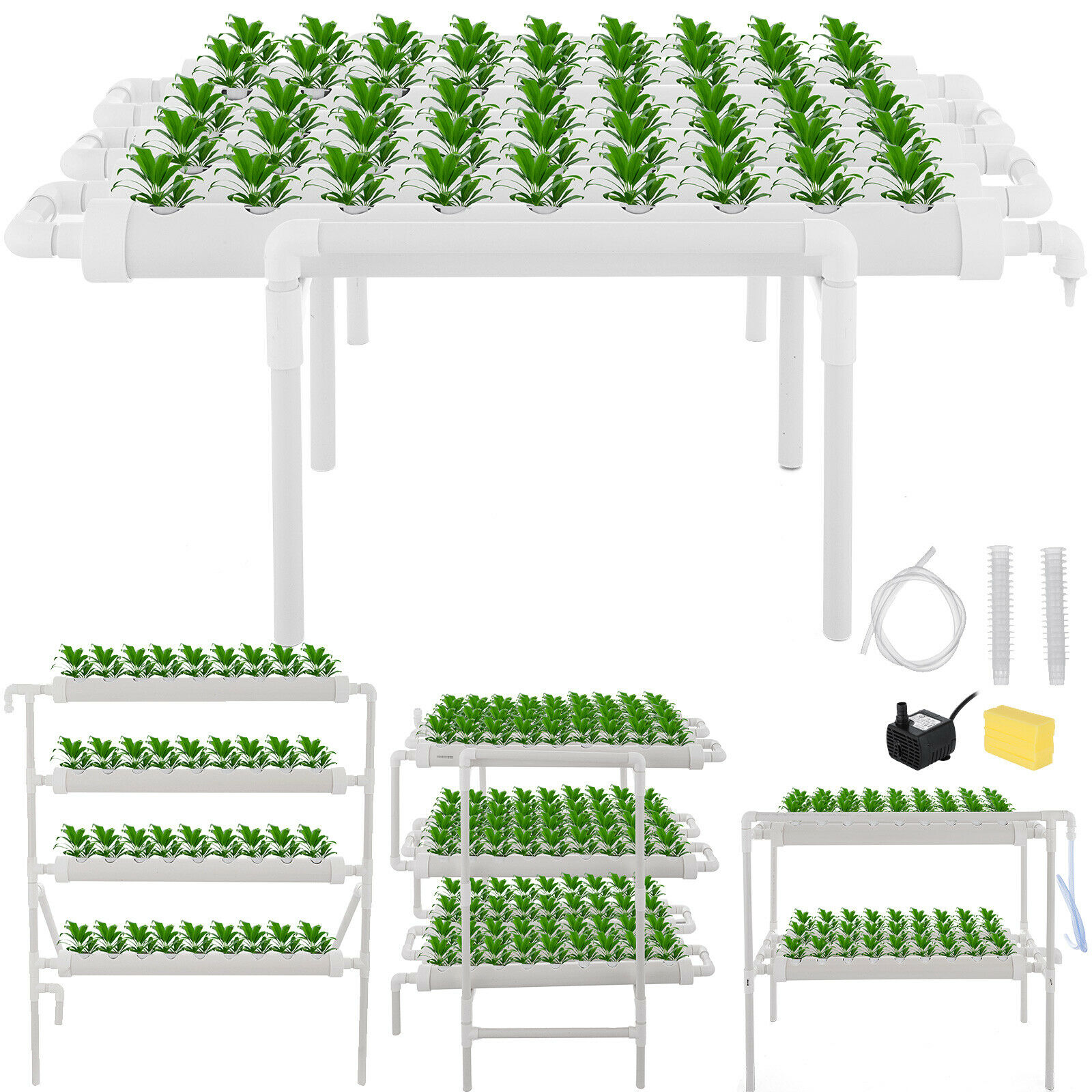 Hydroponic Grow Kit 12 Pipes 3 Layers Hydroponic Growing System 108 Plant Sites