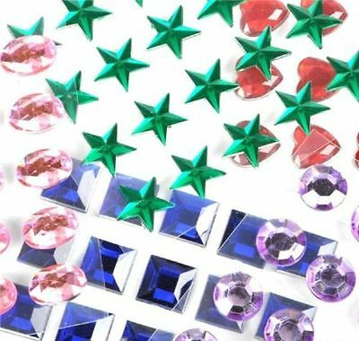 500pc Scrapbook Embellishments Stick on Jewels Assorted Crafts