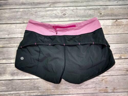 Lululemon Shorts Women Size 4 Black Pink Athletic