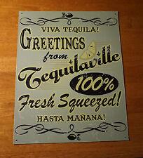 TEQUILAVILLE - VIVA TEQUILA Cantina Bar Pub Tavern Cinco De Mayo Decor Sign NEW