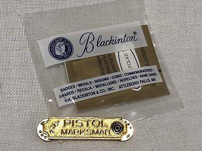 POLICE PISTOL MARKSMAN UNIFORM BAR PIN GOLD /& BLACK WITH TARGET