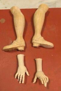 Un-Paio-Di-Piedi-mani-Legno-Figura-Donna-27-30-32-Cm