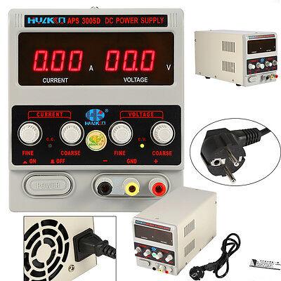 Regelbares Netzgerät mit 30V 5A + Labor Digital DC Netzteil Trafo Variable Prima