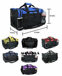 cd42285e2503 Details about Duffle Duffel Bag Sport Travel Carry-On Workout Gym Red Black  Blue Gold Gray 17