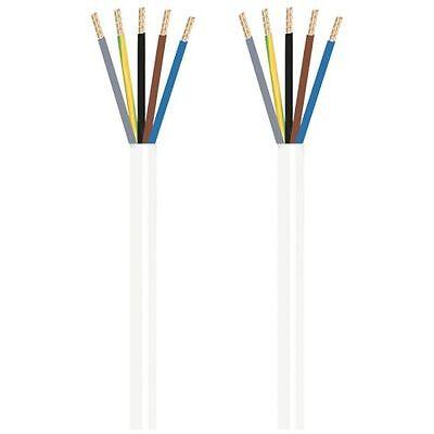 5 X 1,5²mm H05 Vv-f 1,5 M Ehrlich Herdanschlussleitung Weiß Fabriken Und Minen