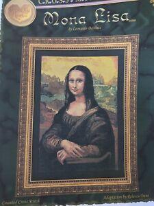 Mona-Lisa-Cross-Stitch-Pattern-Retired-Cross-My-Heart-177-X-298-Count-DaVinci