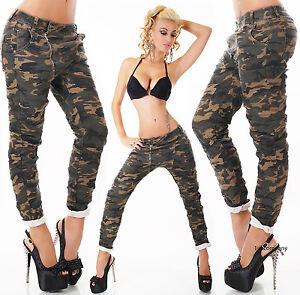 Military skinny hipster boyfriend jeans baggy harem pants 6 8 10 12 14