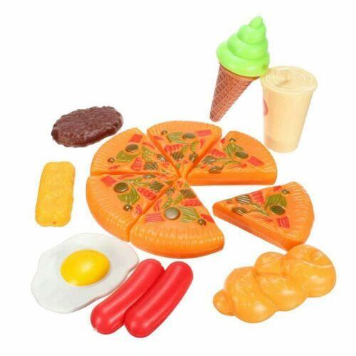 13 pz bambini divertenti plastica pizza cola gelato cibo cucina gioco di ru X6O9