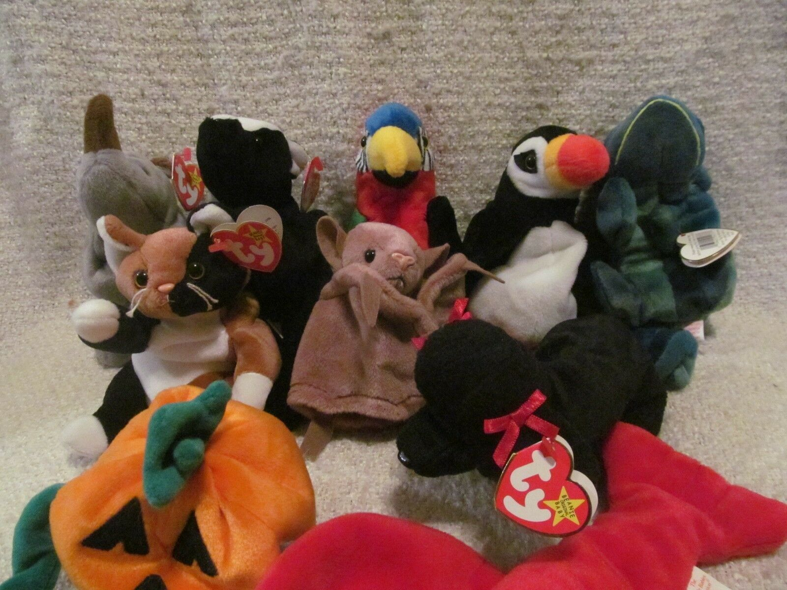 TY BEANIE BABIES - SET SET SET OF 10 - GREAT CONDITION c3f312