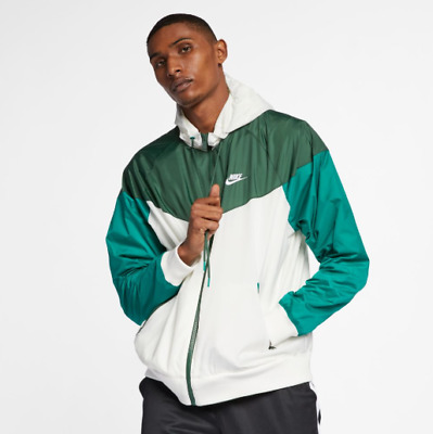 New Men's Nike Hooded Windrunner Jacket (AR2191 133) SailFir Mystic Green | eBay