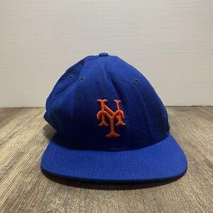 Vintage Nueva York Mets Mlb Béisbol Nueva Era Pro Modelo Gorra Sombrero Azul Con Naranja Ebay