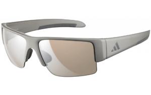 Adidas-Retego-A376-6052-Gray-Frame-Light-Brown-lens-Authentic-Sunglasses