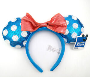 Disney Parks Minnie Mouse Ears Party Festival Blue Hat Gift Mickey Cos Headband