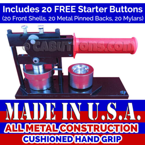 "1-1//4/"" inch New High Quality Made in USA Tecre Button Maker Machine Press"