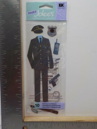 A TOUCH OF JOLEE/'S POLICE DIMENSIONAL STICKERS NEW A9229