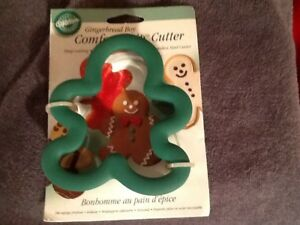 Details About Wilton Comfort Grip Gingerbread Boy Christmas Cookie Cutter New On Card