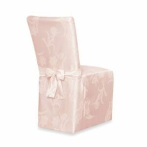 Image Is Loading Spring Blossoms Damask Light Pink Armless Dining Chair