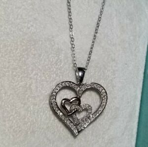 55917aa85 $299 Kay Jewelers Kays 10k Rose Gold & Sterling Silver Heart Pendant ...