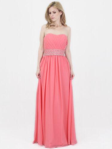 Coral Chiffon Bridesmaid prom Dress